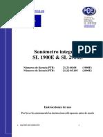 Manual Sonometro 1900 2900
