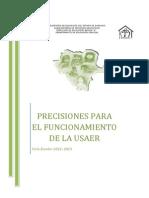 Documento de Precisiones para el Trabajo de USAER