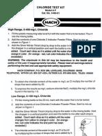 Chloride Test Kit Manual