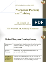 Medical Manpower Planning and Training