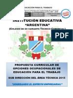 Propuesta Pedagógica EPT 2015 IE Argentina