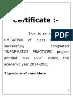 Informatics Practices