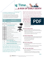 Sitting Time and Risk of Early Death