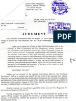 Decision of the RTC Iriga City Branch 60 in the Miguel Belen murder case