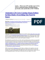 Monsanto and Obama Admin