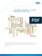 GLOBAL SMART WINDOWS MARKET – ANALYSIS AND FORECAST (2014 – 2020)