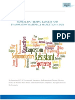 GLOBAL SPUTTERING TARGETS AND EVAPORATION MATERIALS MARKET (2014-2020)