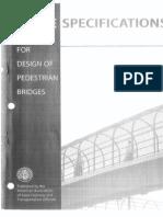 Guide Specification for Pedestration Bridges - AASHTO - 1997
