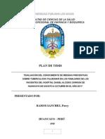 (Plan de Tesis Tuberculosis Pulmonar)