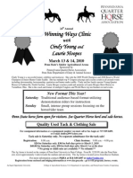 Clinic Flyer CindyYoung LaurieHoopes 2010 Final