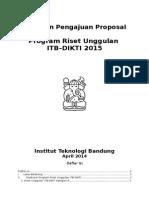 Panduan Proposal Program Riset Unggulan ITB-DIKTI 2015