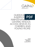 Central Venous Access Devices in Children and Young People