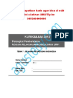 [7] RPP SD KELAS 5 SEMESTER 2 - Sejarah Peradaban Indonesia