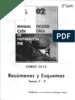 Resúmenes y Esquemas Psicología Clínica 3ª Parte