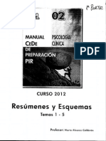 2 Resúmenes y Esquemas Psicología Clínica 1ª Parte