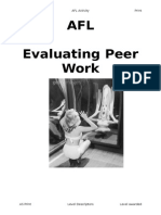 Evaluating Peer Work