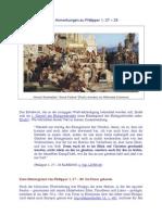 Für Christus leiden - Anmerkungen zu Philipper 1, 27 - 30