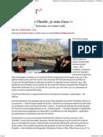 «Je Ne Suis Pas Charlie, Je Suis Gaza !»