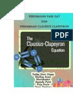Makalah Perubahan Fase Zat dan Persamaan Clausius Clapeyron