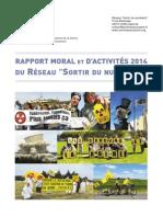 """Rapport Moral 2014 du Réseau """"Sortir du nucléaire"""""""