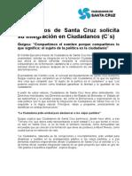 Ciudadanos de Santa Cruz solicita su integración en Ciudadanos (C´s)