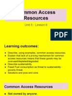 unit 5 - lesson 6 - common access resources