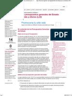 07. Los Presupuestos Generales Del Estado- Contenido y Efectos (L22) - Juspedia