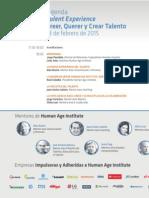 Agenda presentación Human Age Institute en Sevilla (18-02-2015)