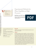 Experimental Methods for Phase Equilibria at High Pressure 2012