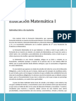 Introduccion Educacion Matematica i