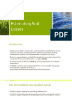 Estimating Soil Losses using Universal Soil Loss Equation (USLE)