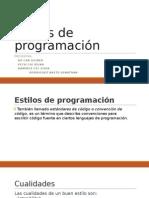 Estilos de Programación-presentacion