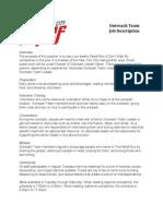 Outreach Team Job Description