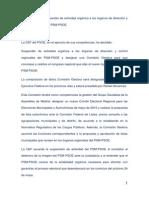 Comunicado de Resolución CEF Sobre Suspensión de Actividad Orgánica a Los Órganos de Dirección y Control Regionales Del PSM
