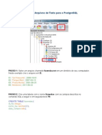 Importando Arquivos de Texto Para o PostgreSQL