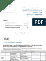Boletin Informativo No 3 Octubre_Direccion de BDUA