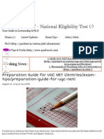 Preparation Guide for UGC NET _ CBSE UGC NET - National Eligibility Test