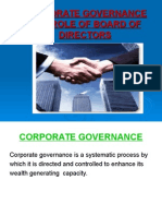 Corporate Governance and Role of Board of Directors