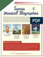Matt Tavares Baseball Biographies Teachers' Guide