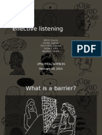 Barriers to Communication REPORT