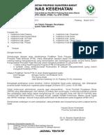 Undangan Pel Teknis PTM Maret 2013
