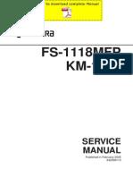 KYOCERA FS-1118MFP KM-1820 Service Manual Pages