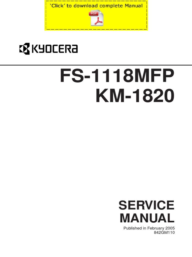 kyocera fs1118mfp manual