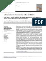 Tekgul S Et a Eur Urol 2012 62(3) 534 EAU Guidelines on Veicoureteral Reflux in Children