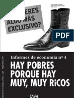 Informes de economía nº4 - Hay pobres porque hay muy, muy ricos - Taifa