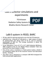LaBr3 Detector Simulations and Experiments