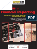 Analysis of Financial Reporting