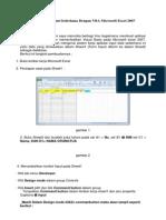 Membuat Aplikasi Input Sederhana Dengan VBA Microsoft Excel 2007 Bagian 1