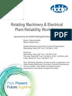 Rotating Machines Workshop Agenda Doble Spring 2015
