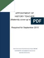 Teacher of History
